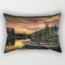 Spring Sunset On Loch Ard Rectangular Pillow