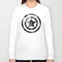 steve rogers Long Sleeve T-shirts featuring Steve Rogers 008 by TheTreasure
