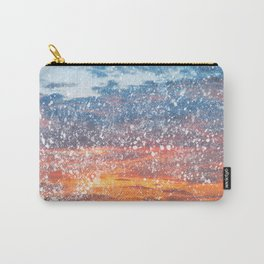 Acrylic Sunset Spatters Carry-All Pouch