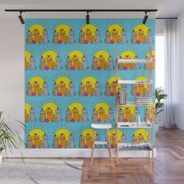 Sunshine Cats Wall Mural