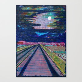 Road to MARFA High Sonoran Desert West of the Pecos Canvas Print