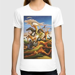 Classical Masterpiece 'Little Big Horn - Custer's Last Stand' by Thomas Hart Benton T-shirt