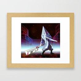 Neon Pyramid Head Framed Art Print