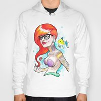 ariel Hoodies featuring Ariel by Daniel Savoie