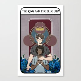The King and the Blue Lily Canvas Print