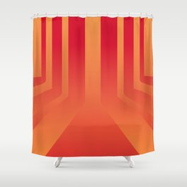 Streets on fire Shower Curtain