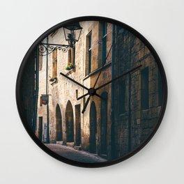 Old World Streets of Sarlat Wall Clock
