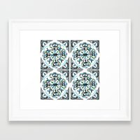 morrocan Framed Art Prints featuring Morrocan tile  by Arabella India