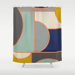 Colorful Geometric Cubism Design Shower Curtain