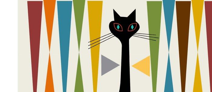 Mid-Century Modern Art Cat 2 Kaffeebecher