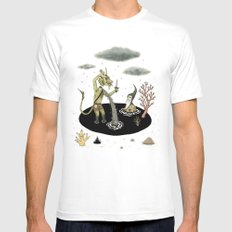 Shifting Tide Pool LARGE Mens Fitted Tee White