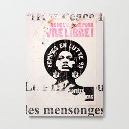 Paris Street Art: Femmes en Lutte 93 Metal Print
