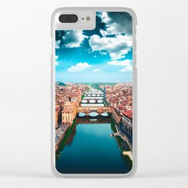 ponte vecchio in florence Clear iPhone Case