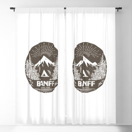 Banff National Park Blackout Curtain