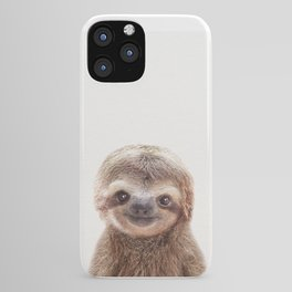 Baby Sloth, Baby Animals Art Print By Synplus iPhone Case