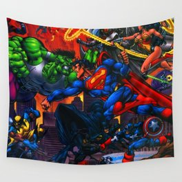 battle of hero Wall Tapestry