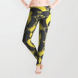 Dark grey and yellow Leggings