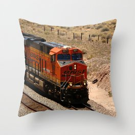 BNSF Engine Throw Pillow