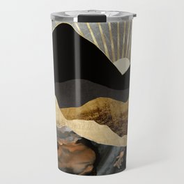 Copper and Gold Mountains Travel Mug