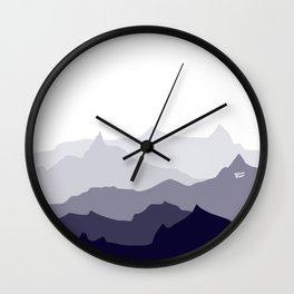 BLUE MOUNTAIN PANORAMA #minimal #art #design #kirovair #buyart #decor #home Wall Clock