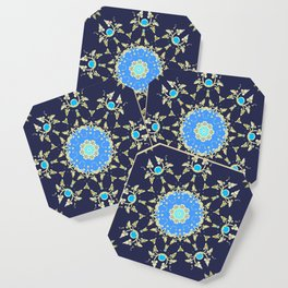 Golden and blue pattern Coaster