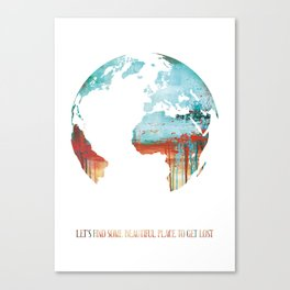 Globus - World Map Canvas Print