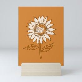 Copper Sunflowers Mini Art Print