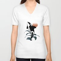 orca V-neck T-shirts featuring Orca by VanessaGF