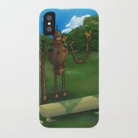 bender iPhone & iPod Cases featuring Laputan Bender by Paul Scott (Dracula is Still a Threat)