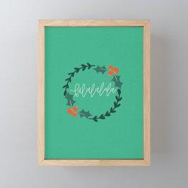 Falalalala Holly Wreath Framed Mini Art Print