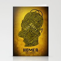 homer Stationery Cards featuring Homer by Matthew Cridland