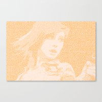 paramore Canvas Prints featuring Hayley Williams Lyric Portrait by Emily Becker