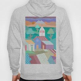 Pastel Andean Village Patchwork Hoody