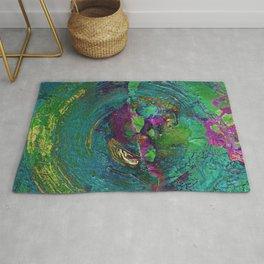 Abstract Distressed Mandala 638 Rug