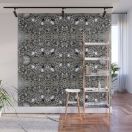 girly chic glitter sparkle rhinestone silver crystal Wall Mural