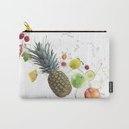 Fresh fruits and berries  with water splash Carry-All Pouch