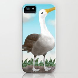 The Pretty Waved Albatross from Galapagos iPhone Case