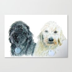 Labradoodle Pair Canvas Print