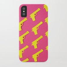 Guns Papercut iPhone X Slim Case