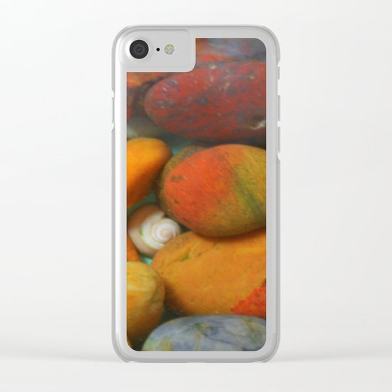 Colorful stones Clear iPhone Case