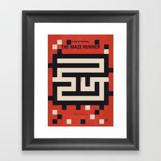No837 My The Maze Runner minimal movie poster Framed Art Print