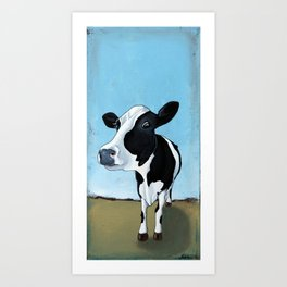 Curious Cow Art Print