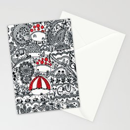 Red Huts Stationery Cards
