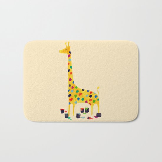 Paint by number giraffe Bath Mat