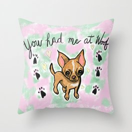 Chihuahua Love Throw Pillow