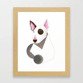White bull terrier Framed Art Print