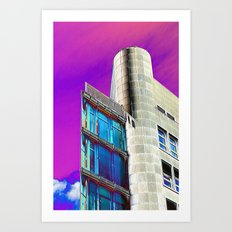 Psychedelic Architecture II Art Print