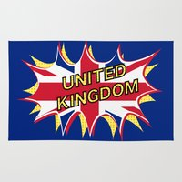 union jack Area & Throw Rugs featuring Union Jack by mailboxdisco