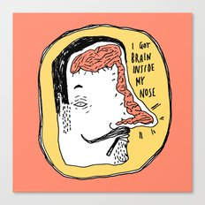 Brain inside the nose. Canvas Print