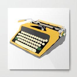 Yellow Typewriter Metal Print